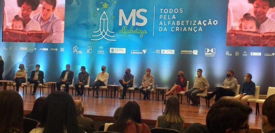 Prefeito de Figueirão participa do lançamento do Programa MS Alfabetiza.